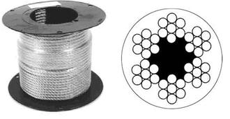 Оцинкованный стальной канат (трос) в оболочке ПВХ