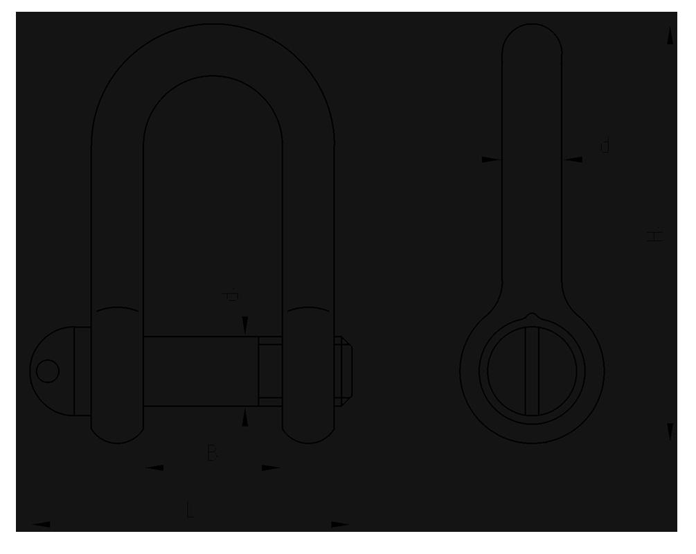Скобы такелажные ОСТ5.2312-79 тип Р