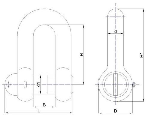Скобы такелажные ОСТ5.2312-79 тип СА