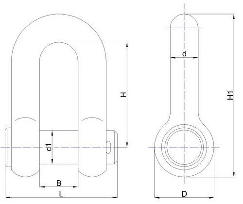 Скобы такелажные ОСТ5.2312-79 тип СБ