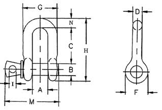 Схема скобы винтовой прямой G210