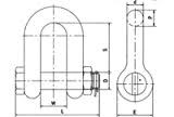 Схема скобы прямой со шплинтом G2150