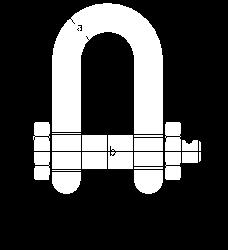 Прямые скобы Green Pin G-4153 с предохранительным болтом (тип СА)