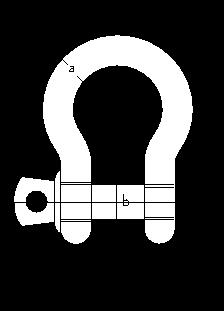 Схема Омегаобразной скобы с резьбовым штырем с буртиком (тип СИ)